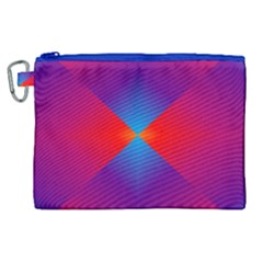 Geometric Blue Violet Red Gradient Canvas Cosmetic Bag (xl) by BangZart