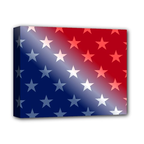America Patriotic Red White Blue Deluxe Canvas 14  X 11  by BangZart