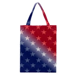 America Patriotic Red White Blue Classic Tote Bag by BangZart