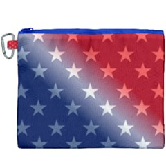 America Patriotic Red White Blue Canvas Cosmetic Bag (xxxl) by BangZart
