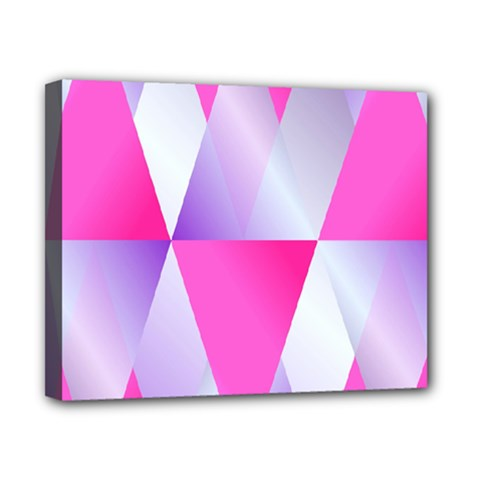 Gradient Geometric Shiny Light Canvas 10  X 8