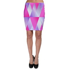 Gradient Geometric Shiny Light Bodycon Skirt