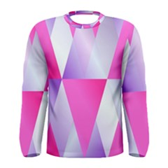 Gradient Geometric Shiny Light Men s Long Sleeve Tee
