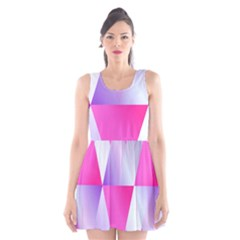 Gradient Geometric Shiny Light Scoop Neck Skater Dress by BangZart