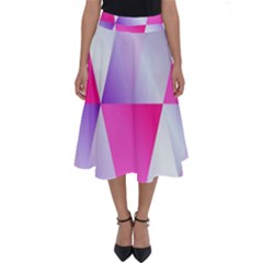 Gradient Geometric Shiny Light Perfect Length Midi Skirt