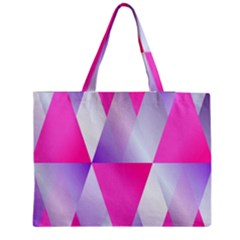 Gradient Geometric Shiny Light Zipper Medium Tote Bag