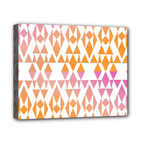 Geometric Abstract Orange Purple Canvas 10  X 8