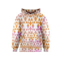 Geometric Abstract Orange Purple Kids  Pullover Hoodie