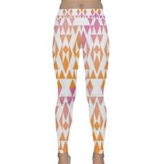 Geometric Abstract Orange Purple Classic Yoga Leggings