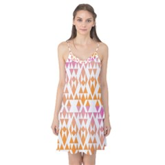 Geometric Abstract Orange Purple Camis Nightgown
