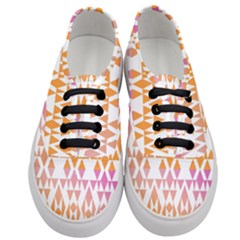 Geometric Abstract Orange Purple Women s Classic Low Top Sneakers