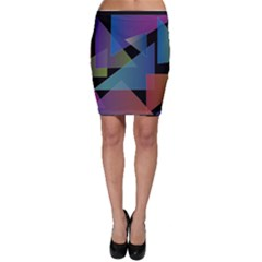 Triangle Gradient Abstract Geometry Bodycon Skirt