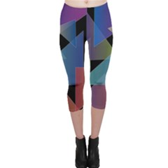 Triangle Gradient Abstract Geometry Capri Leggings