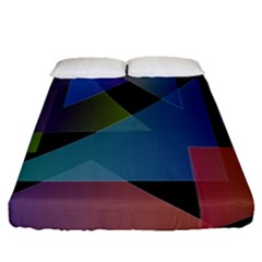 Triangle Gradient Abstract Geometry Fitted Sheet (queen Size)