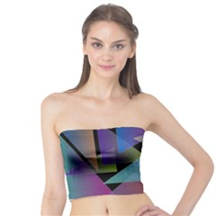 Triangle Gradient Abstract Geometry Tube Top