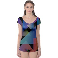 Triangle Gradient Abstract Geometry Boyleg Leotard