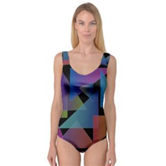 Triangle Gradient Abstract Geometry Princess Tank Leotard