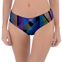 Triangle Gradient Abstract Geometry Reversible Classic Bikini Bottoms