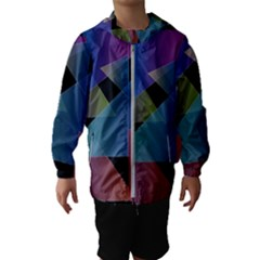 Triangle Gradient Abstract Geometry Hooded Wind Breaker (kids)