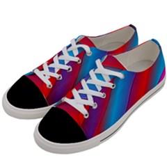 Diagonal Gradient Vivid Color 3d Women s Low Top Canvas Sneakers by BangZart