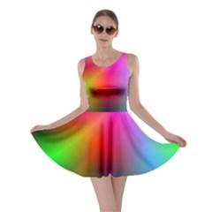 Course Gradient Background Color Skater Dress