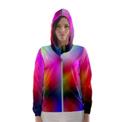Course Gradient Background Color Hooded Wind Breaker (women)