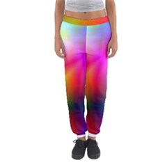 Course Gradient Background Color Women s Jogger Sweatpants
