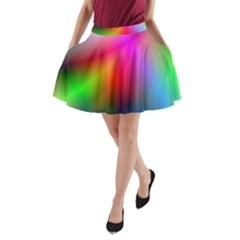 Course Gradient Background Color A Line Pocket Skirt