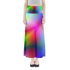 Course Gradient Background Color Full Length Maxi Skirt