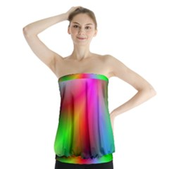 Course Gradient Background Color Strapless Top