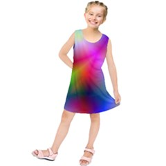 Course Gradient Background Color Kids  Tunic Dress
