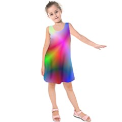 Course Gradient Background Color Kids  Sleeveless Dress