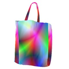 Course Gradient Background Color Giant Grocery Zipper Tote by BangZart