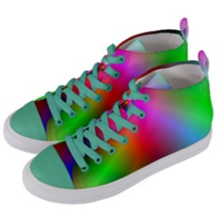 Course Gradient Background Color Women s Mid Top Canvas Sneakers by BangZart