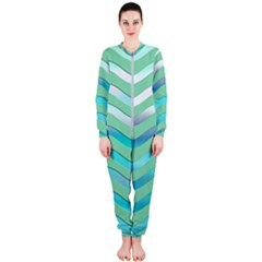 Abstract Digital Waves Background Onepiece Jumpsuit (ladies)