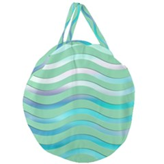 Abstract Digital Waves Background Giant Round Zipper Tote