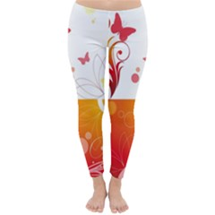 Spring Butterfly Flower Plant Classic Winter Leggings