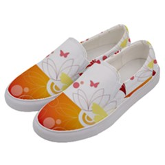 Spring Butterfly Flower Plant Men s Canvas Slip Ons by BangZart