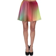 Colorful Colors Wave Gradient Skater Skirt