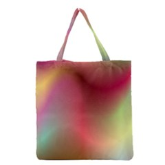 Colorful Colors Wave Gradient Grocery Tote Bag
