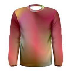 Colorful Colors Wave Gradient Men s Long Sleeve Tee