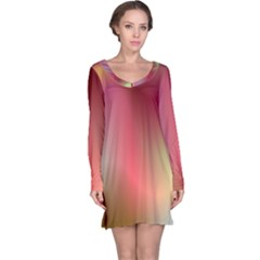 Colorful Colors Wave Gradient Long Sleeve Nightdress