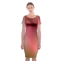 Colorful Colors Wave Gradient Classic Short Sleeve Midi Dress