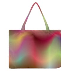 Colorful Colors Wave Gradient Zipper Medium Tote Bag