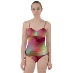 Colorful Colors Wave Gradient Sweetheart Tankini Set