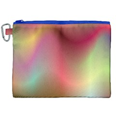 Colorful Colors Wave Gradient Canvas Cosmetic Bag (xxl) by BangZart
