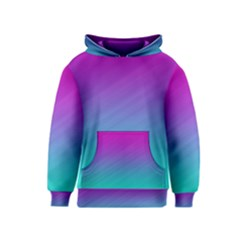 Background Pink Blue Gradient Kids  Pullover Hoodie