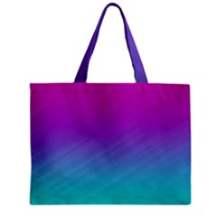 Background Pink Blue Gradient Zipper Mini Tote Bag