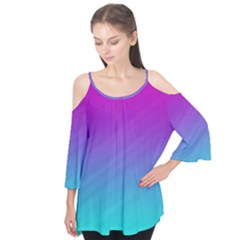 Background Pink Blue Gradient Flutter Tees
