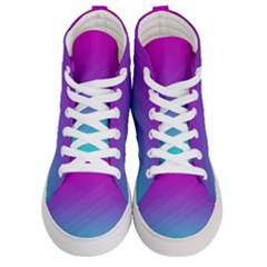 Background Pink Blue Gradient Women s Hi Top Skate Sneakers